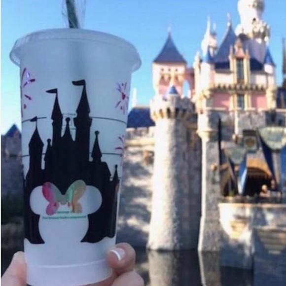 Starbucks Accessories - Starbucks Disney castle cold cup
